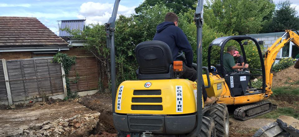 Mini digger hire Surrey